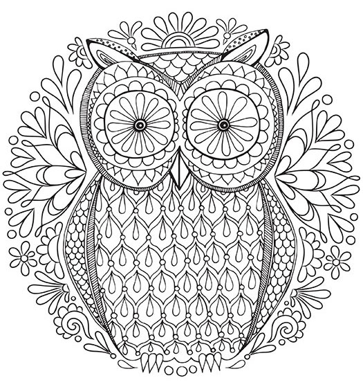 525x559 Free Adult Coloring Pages Detailed Printable Coloring Pages