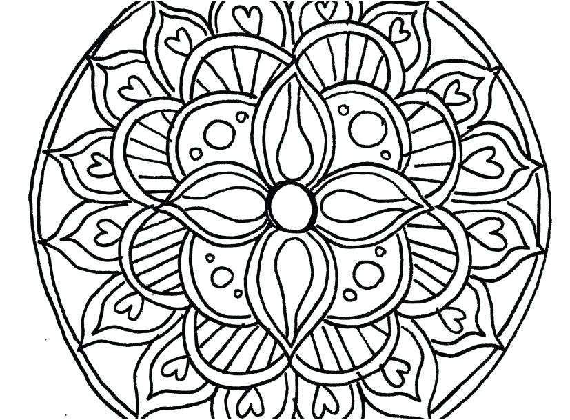 827x609 Full Page Mandala Coloring Pages Full Size Of Easy Mandala