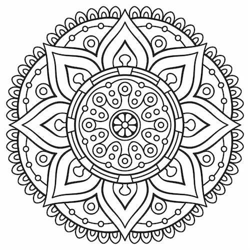 500x500 Mandala Coloring Pages