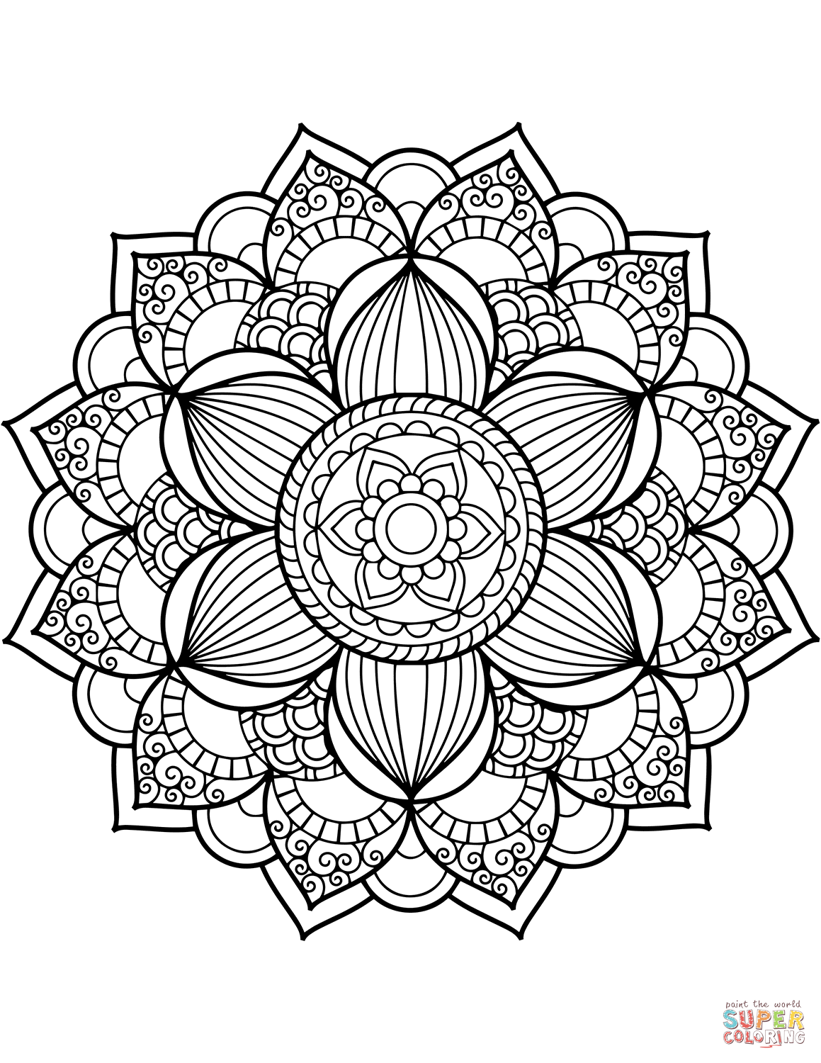 1159x1500 Mandala Coloring Pages Free And Flower