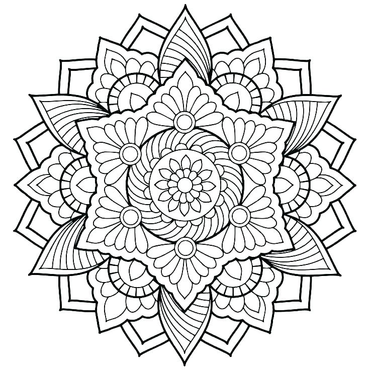 736x736 Mandala Coloring Pages Printable