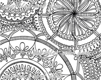 340x270 Mini Mandalas Printable Adult Coloring Book