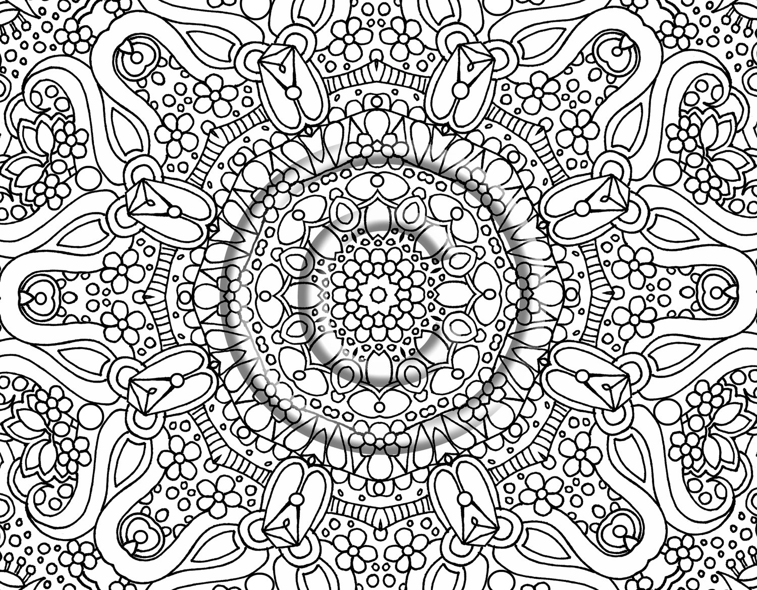 1500x1169 Sensational Design Free Abstract Coloring Pages Printable