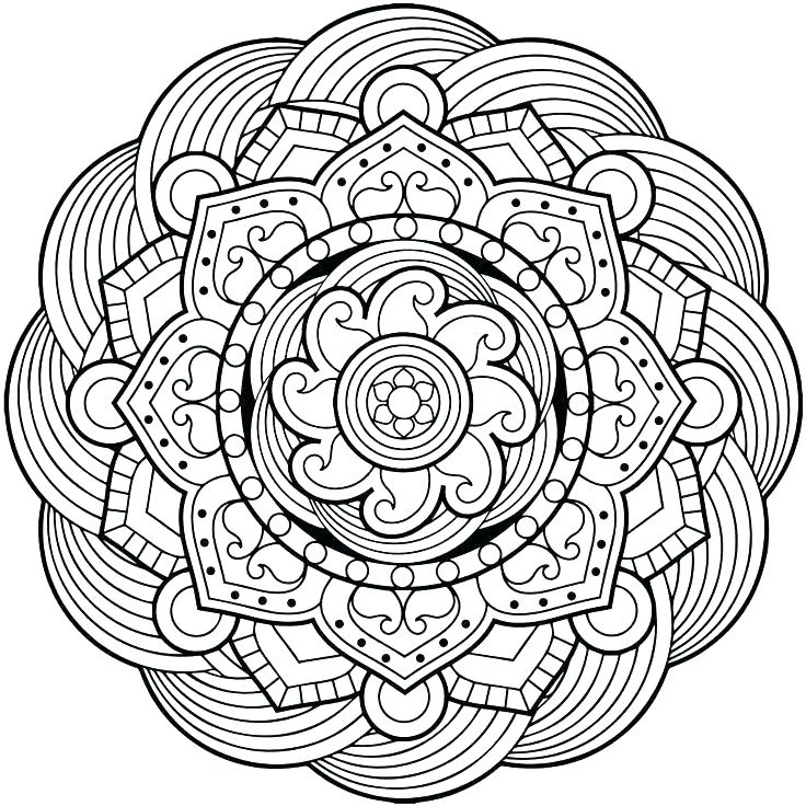 736x736 Simple Mandala Coloring Pages Coloring Pages Mandalas Easy Simple