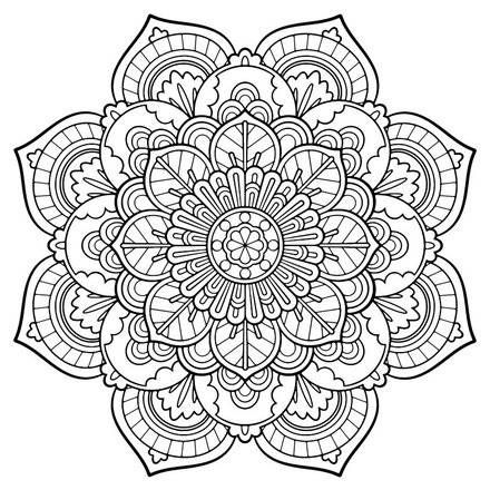 440x440 Full Page Adult Coloring Pages Mandala Printable