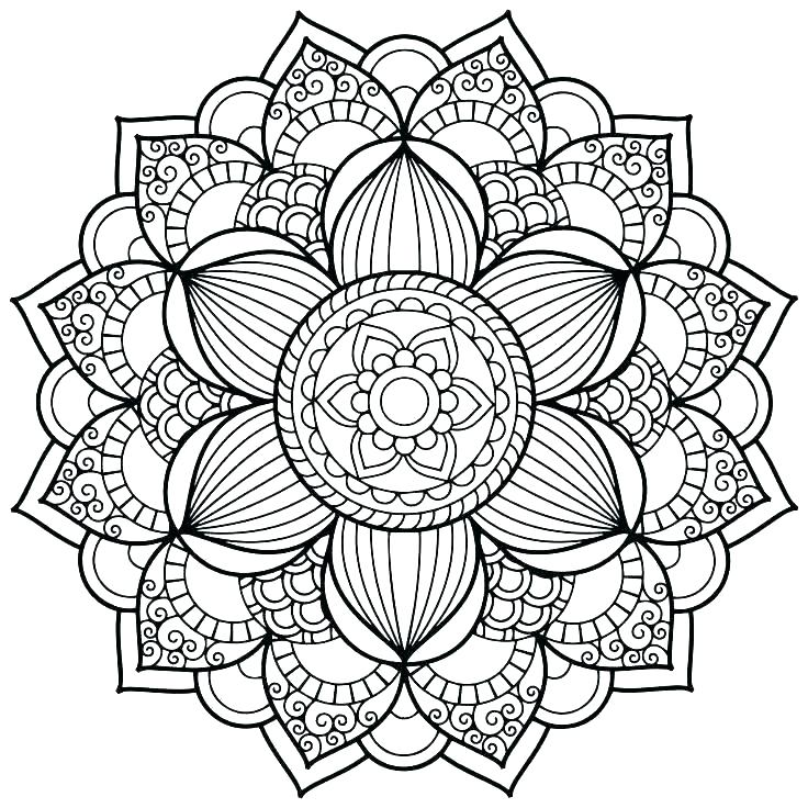 736x736 Autumn Mandala Coloring Pages Online Throughout Mandalas
