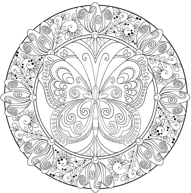 650x655 Coloring Page Mandala Adult Mandala Coloring Pages Simple Mandala