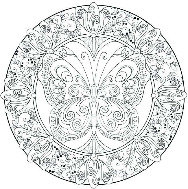 650x655 Detailed Mandala Coloring Pages For Adults