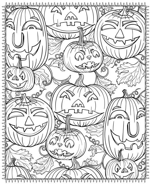 521x640 Free Printable Halloween Coloring Pages For Adults Mandalas
