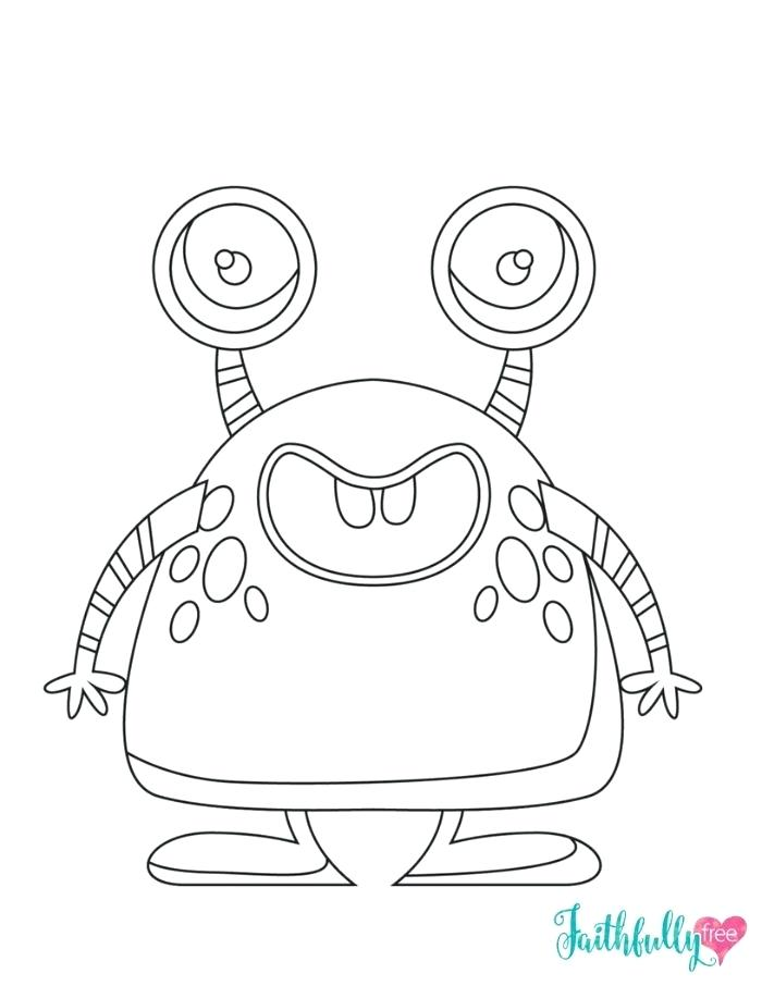 700x906 Halloween Free Coloring Pages Cute Monster Free Printable Coloring