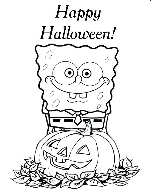 506x637 Halloween Coloring Pages Printable Icontent