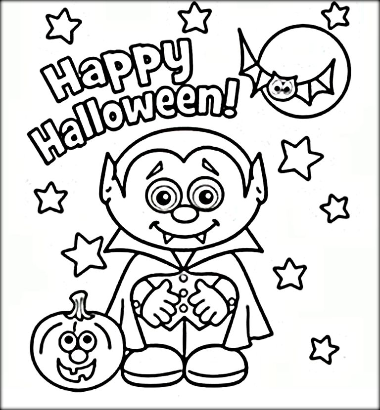 768x830 Cute Vampire Halloween Coloring Pages Coloring