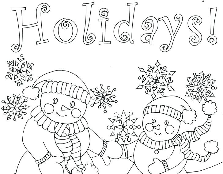 728x570 Cute Christmas Coloring Pages Medium Size Of Card Kitten Draw So