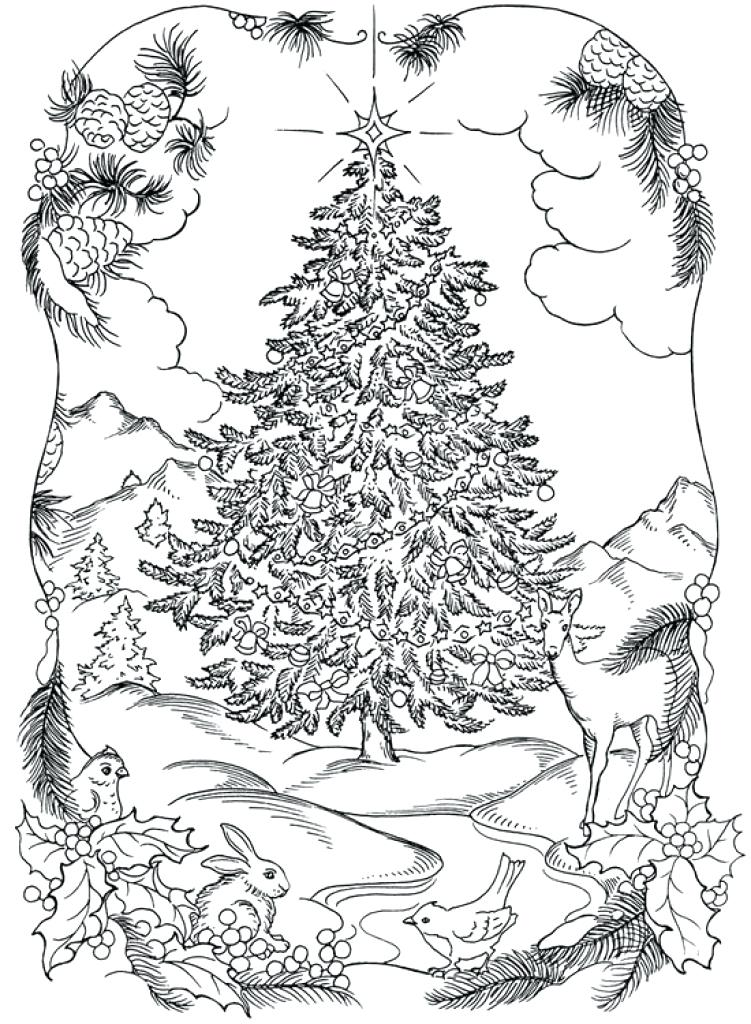 751x1024 Difficult Christmas Coloring Pages