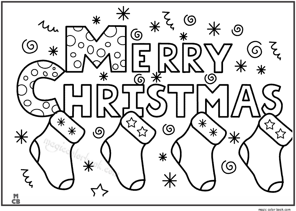 990x706 Merry Christmas Coloring Pages For Kids