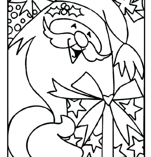579x600 Printable Christmas Coloring