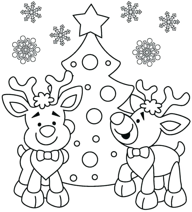 770x852 Christmas Coloring For Kids Easy Coloring Pages Easy Coloring Page