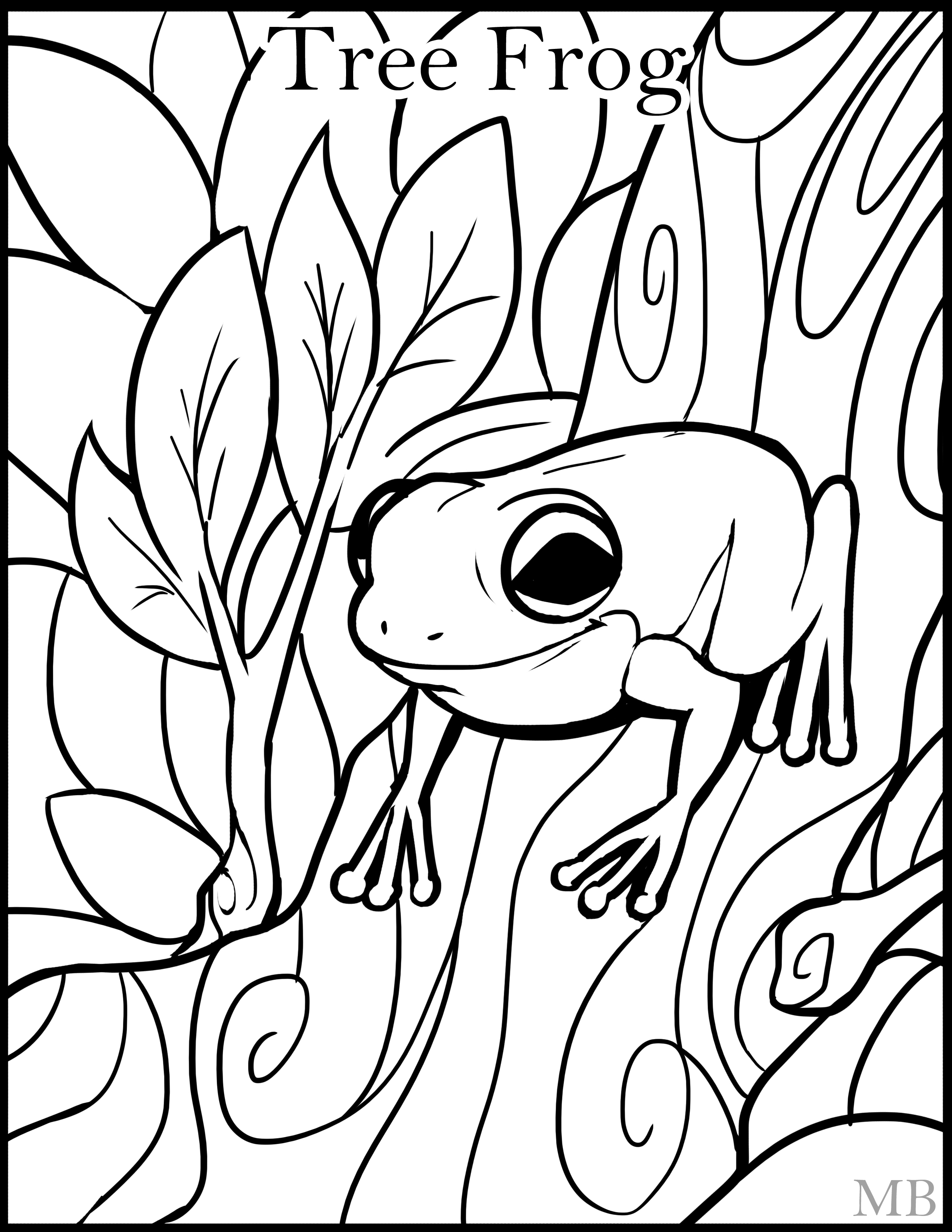 2550x3300 Frog Coloring Pages