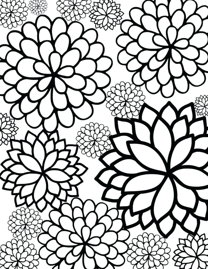 671x868 Printable Coloring Pages Of Flowers