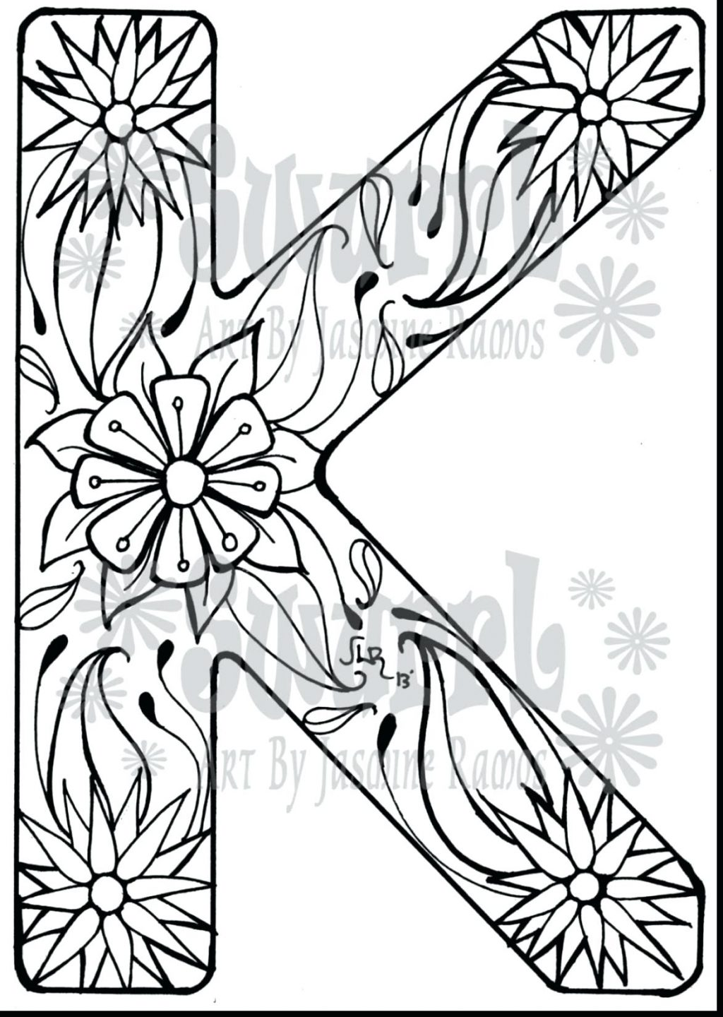 1024x1440 Coloring Page Letter K Coloring Page Click The Sign Language Q
