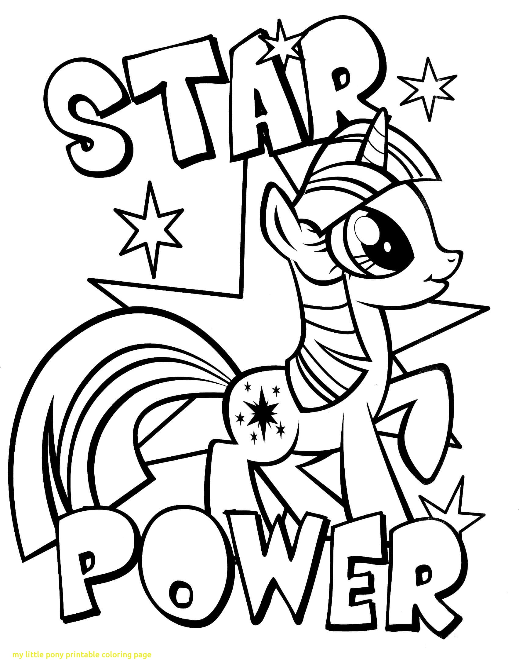 1700x2200 My Little Pony Printable Coloring Page With My Little Pony