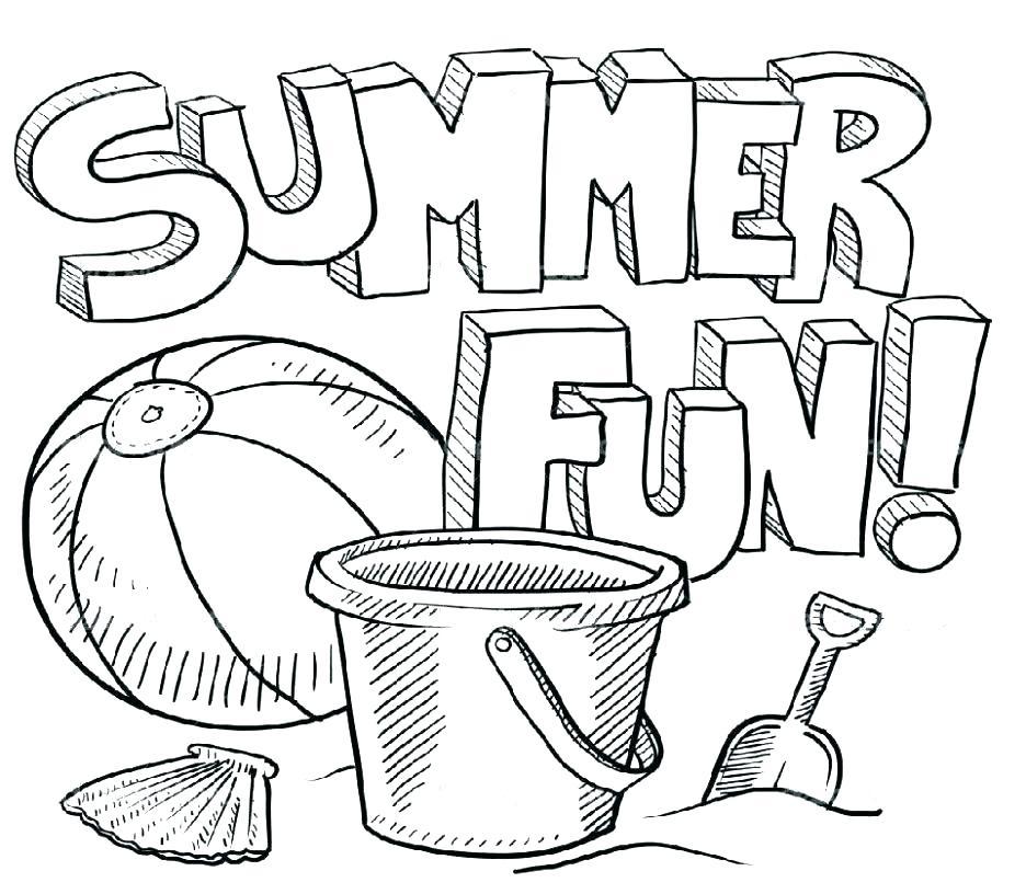 936x816 Summer Fun Coloring Pages Fun Coloring Sheets Printable Fun Summer