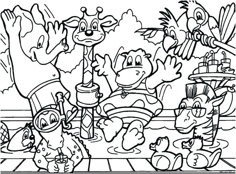 827x609 Fun Christmas Coloring Pages