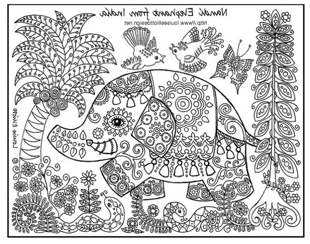 1024x808 Animal Coloring Page For Older Children Impressive Fun Coloring
