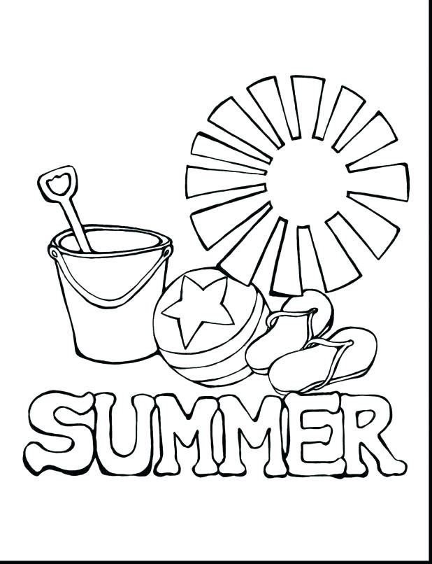 618x806 Summer Fun Coloring Pages