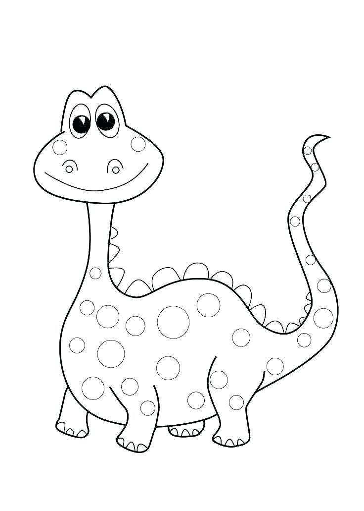 736x1031 Dinosaur Coloring Pages Toddler Kindergarten For Funny Dinos
