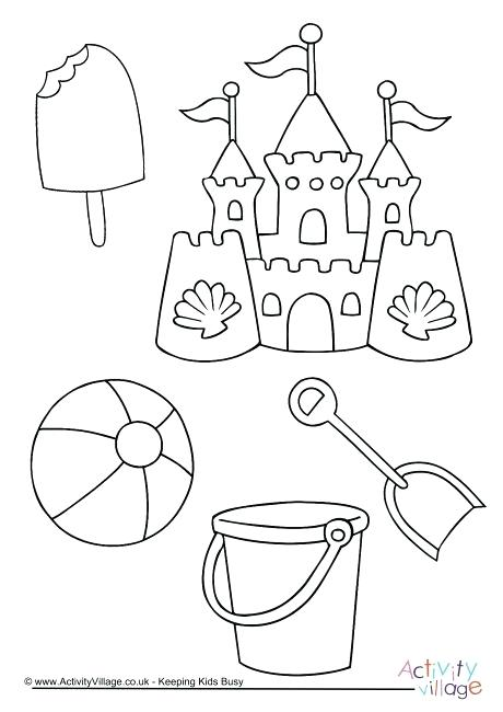 460x650 Seaside Colouring Pages Beach Fun Colouring Page Printable Summer