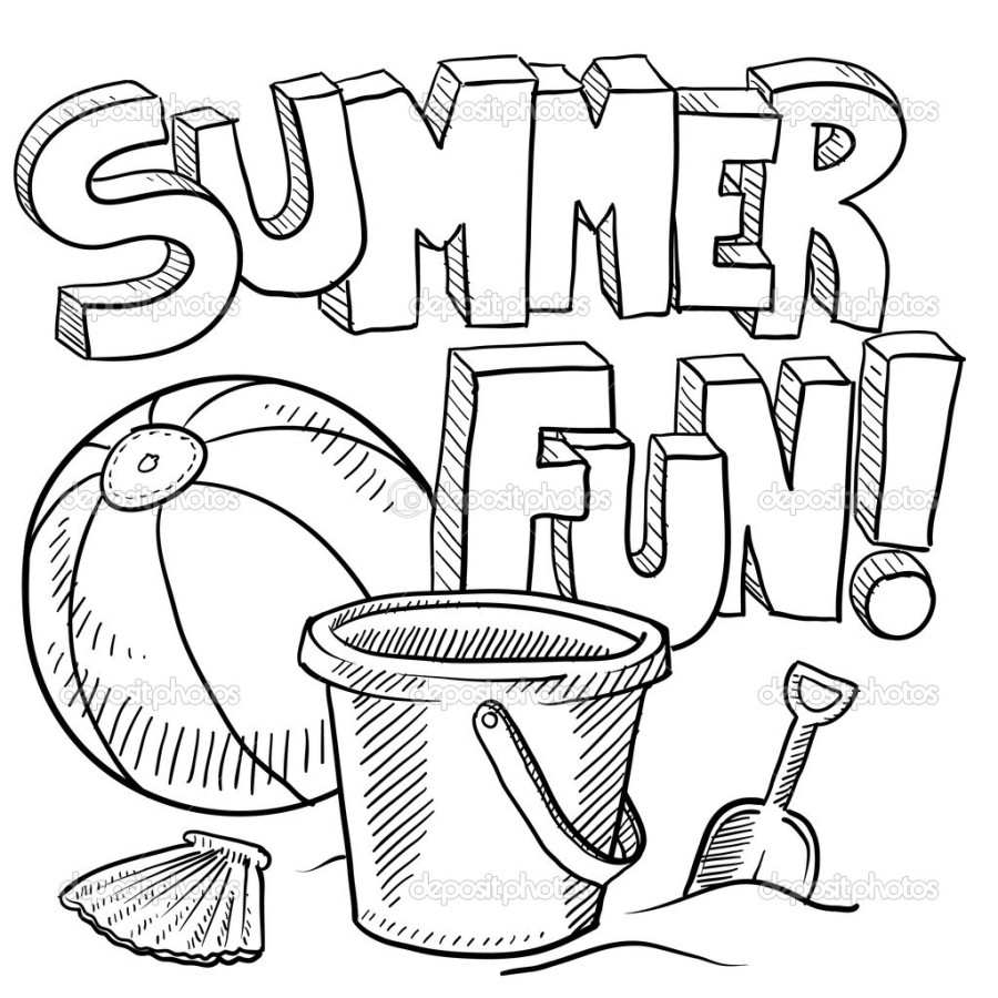900x900 Ultimate Fun In The Sun Coloring Pages Of Summ