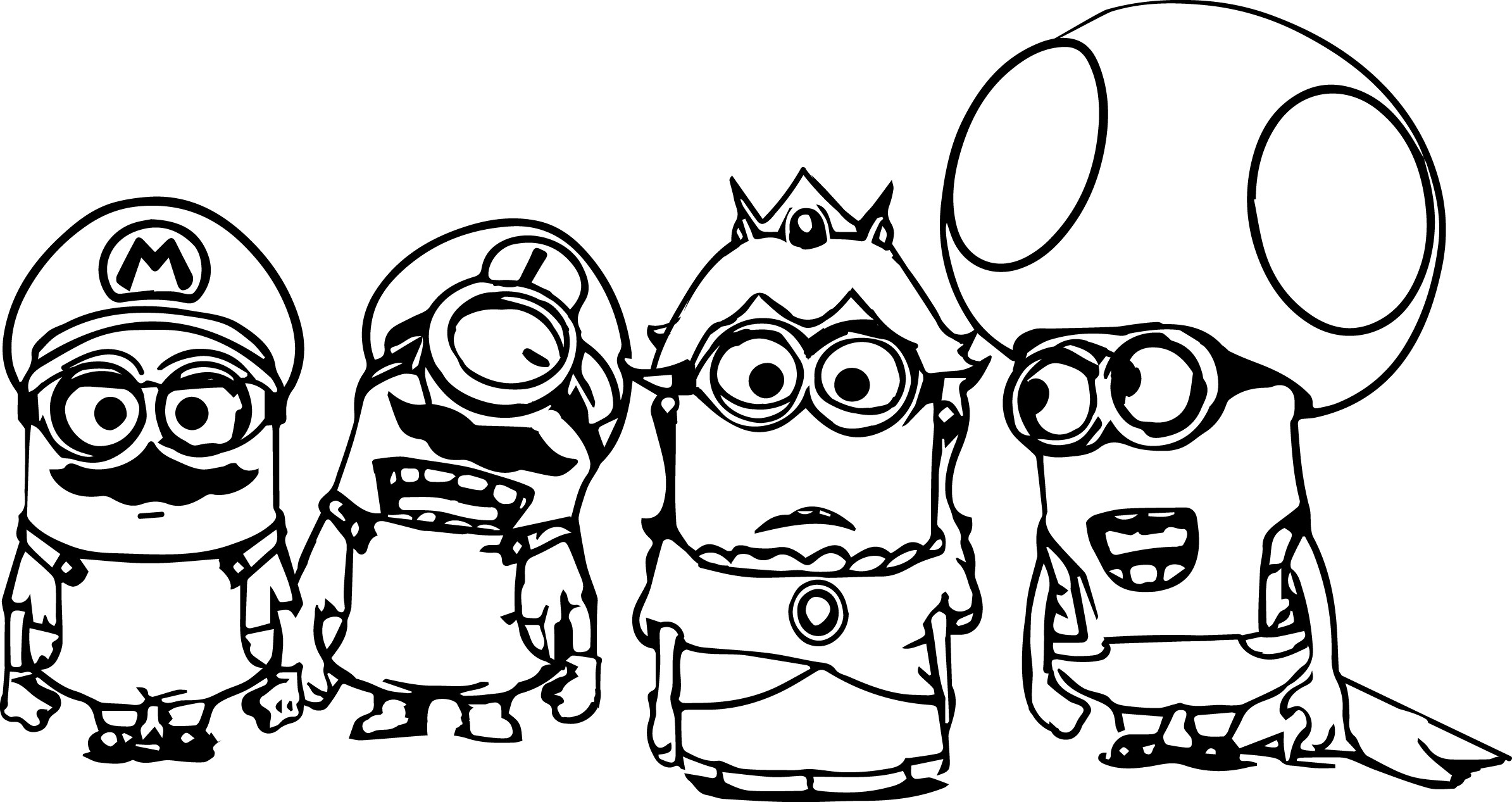 2389x1267 Coloring Pages Printable Minions Funny Coloring Page For Adult