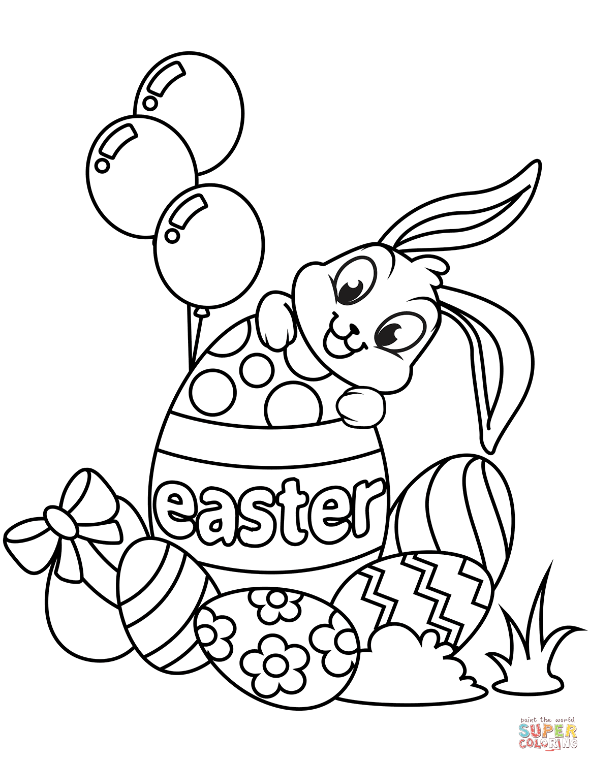 Fun Easter Coloring Pages at GetDrawings | Free download