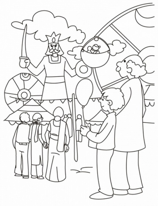 550x719 Dushhera Festival Fair Coloring Pages For Kids Coloring Pages