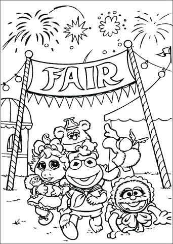 342x480 Fair Coloring Page
