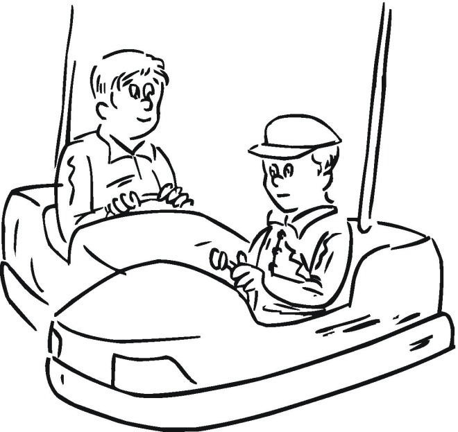 660x623 Fair Rides Coloring Pages