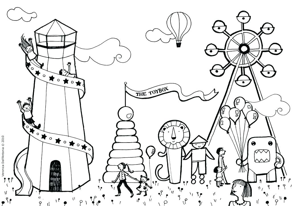 1024x724 Perfect Fair Coloring Pages In Coloring For Kids With Fair
