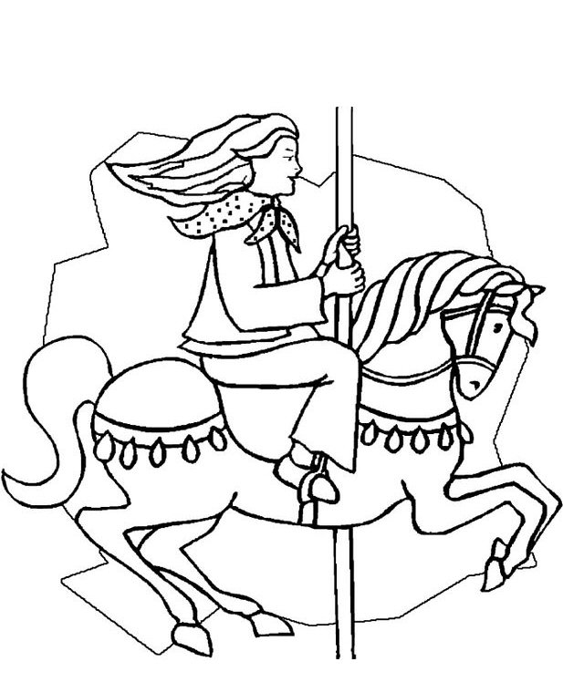 617x760 Carnival Coloring Pages