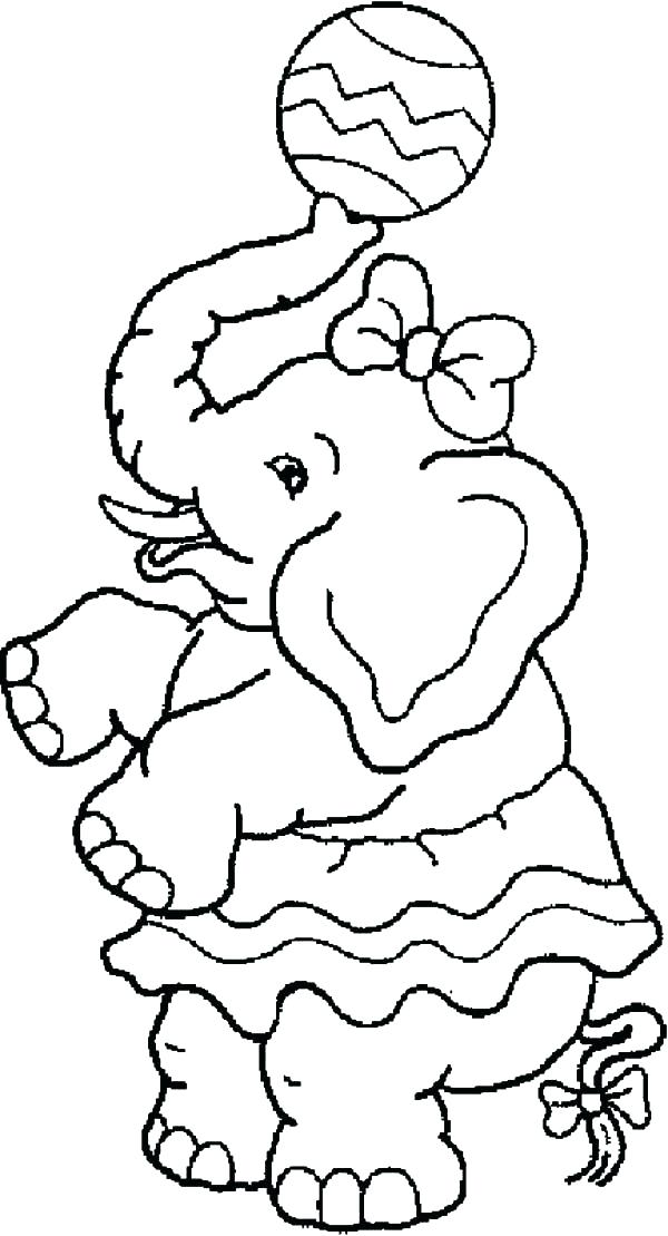 600x1109 Coloring Pages Fun Fair Coloring Pages Carnival Elephant With Ball