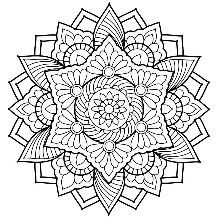736x736 Fun Mandala Coloring Pages For Adults Best Printable Ideas