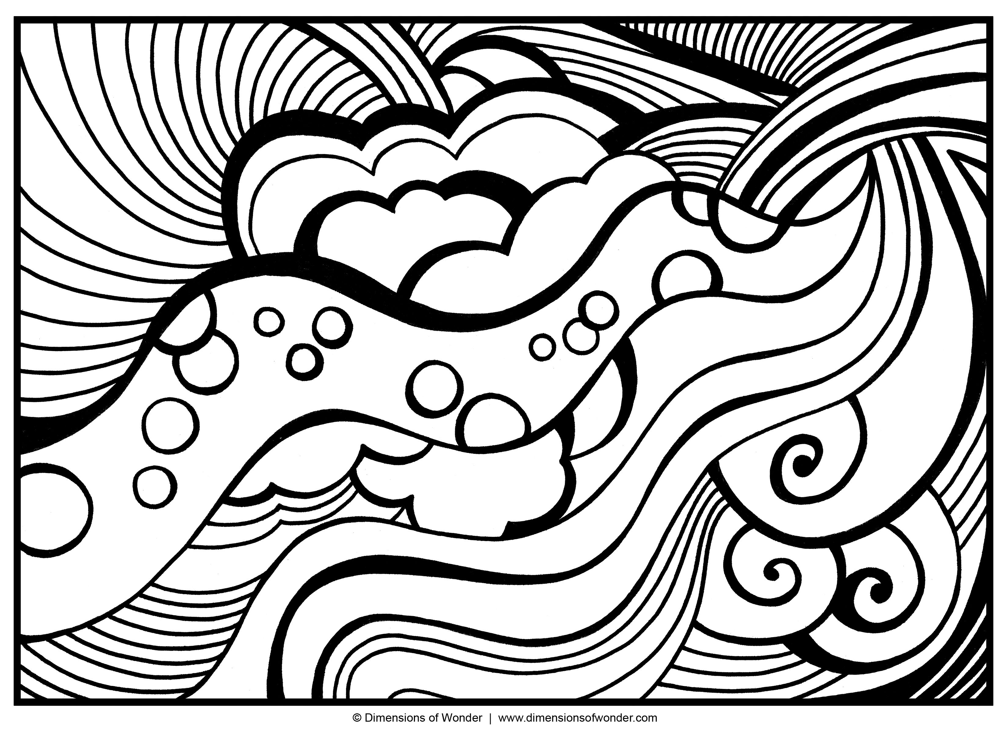3300x2400 Coloring Pages For Adults Abstract Fun Printable Within