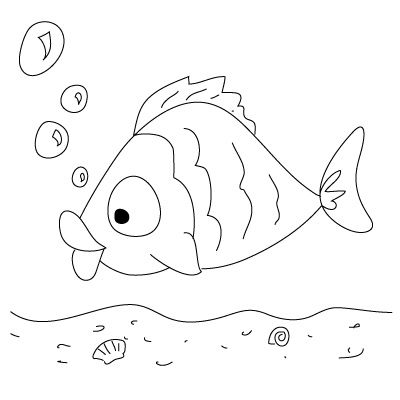 400x400 Basic Drawings Kids How To Draw A Fish Fun Drawing Lessons