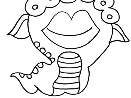 Funny Alien Coloring Pages