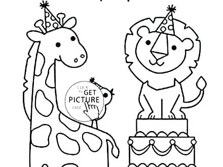 440x330 Coloring Pictures For Children Forest Animal Coloring Pages Funny