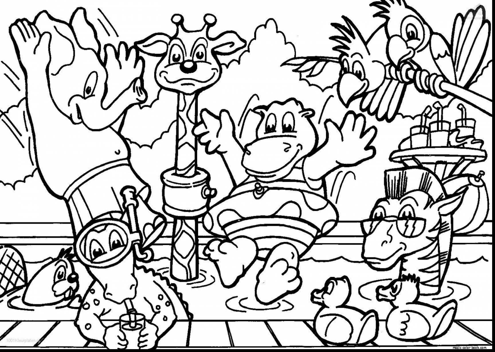 1727x1228 Zoo Animal Coloring Sheets Animals Page Funny