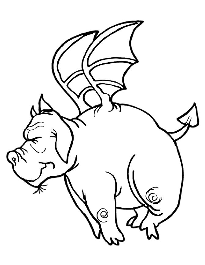 Funny Dragon Coloring Pages