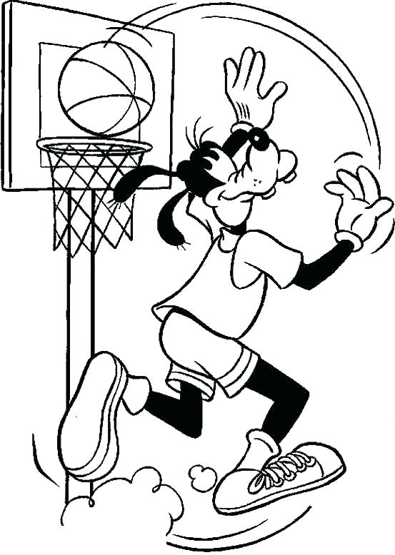 553x778 Goofy Coloring Page Goofy Coloring Basketball Coloring Pages Goofy