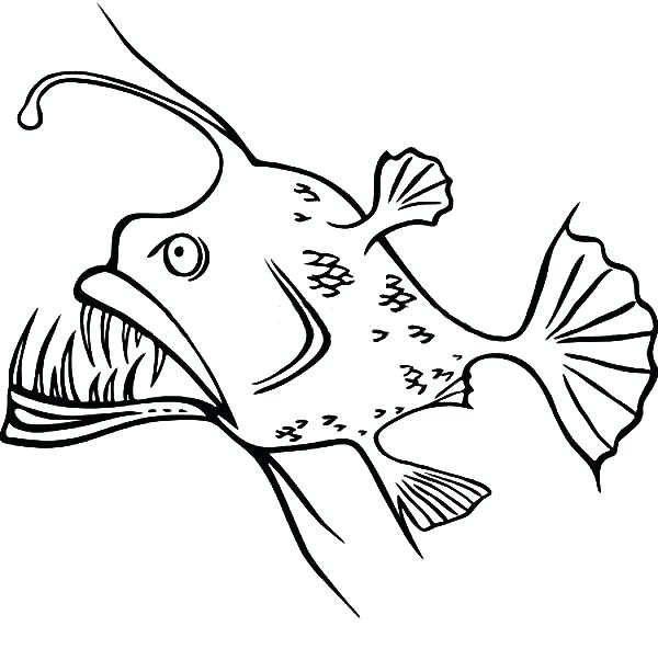 600x592 Silly Coloring Pages Angler Fish Silly Shaped Coloring Pages Funny