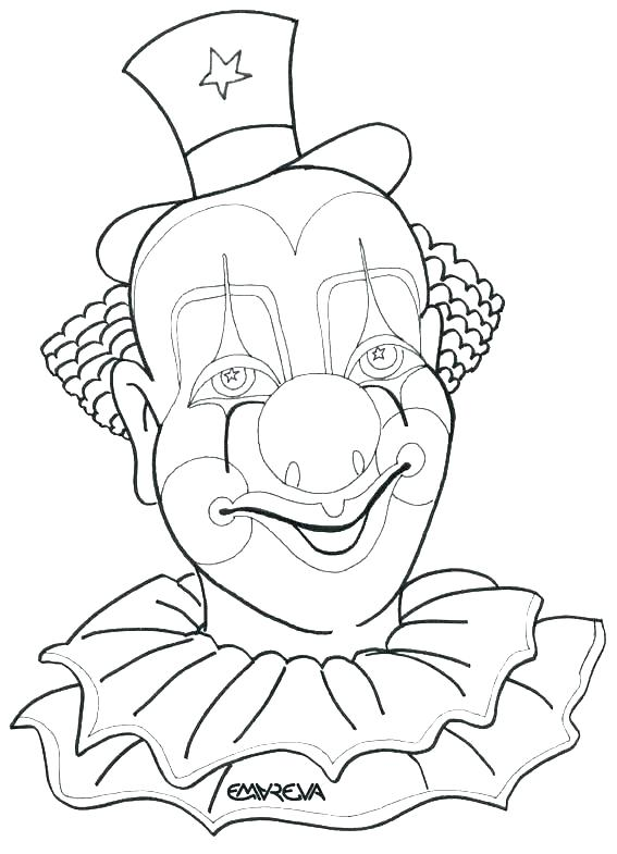 567x785 Coloring Pages Of Scary Clowns G Pages Clown Funny Faces Clowns